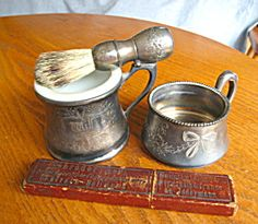 Antique shaving accessories for sale at More Than McCoy on TIAS at http//www.morethanmccoy.com