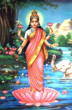 Hindu Goddess Lakshmi - Attraction of money