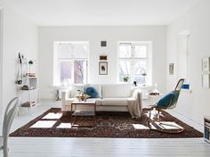 Working Whites: Lightfilled Swedish Interior