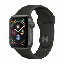 Apple Watch Series 4 44 mm Space Black Stainless Steel Case with Black Sport Band (GPS + Cellular) Unlocked - for sale online Fitbit Charge, Fitbit Flex, Apple Watch Series 3, New Apple Watch, Apple Watch Bands 42mm, Ios Apple, Apple Iphone 6, Apple Smartwatch, Galaxy S2