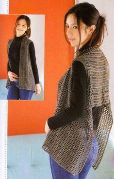 rectangle vest with armholes