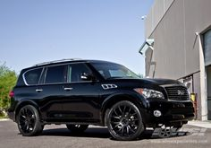 "QX56 On 24 Rims | 2013 Infiniti QX56 with 24"" Giovanna Siena in Black (Matte) wheels"