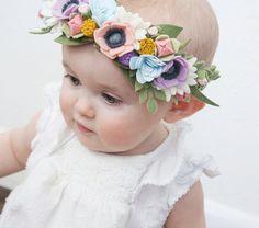 Felt Flower Crown Secret Garden One Crown by littleflohra