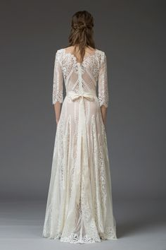 Romantic lace wedding gown by Katya Katya Shehurina | Love My Dress® UK Wedding Blog