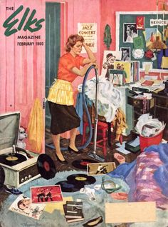 fiftiesinspiration:  Elks magazine Illustrated by Tom Shoemaker February 1960