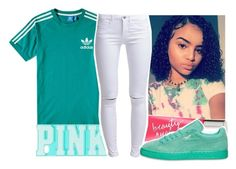 """BTS"" by aribearie ❤ liked on Polyvore featuring adidas, Victoria's Secret and ONLY"