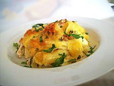 Κοτόπουλο στο φούρνο με ριγκατόνι και σάλτσα μουστάρδας