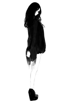 Anime picture original sousou (sousouworks) long hair single tall image black hair simple background white background standing looking away full body monochrome wavy hair hands behind back girl ankle boots 286814 en 5 Anime, Female Anime, Anime Art, Art Et Illustration, Character Illustration, Character Art, Character Design, Poster S, Beautiful Anime Girl
