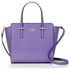 kate spade new york Cedar Street Small Hayden Top Handle Bag (1.195 RUB) ❤ liked on Polyvore featuring bags, handbags, handle bag, purple purse, top handle handbags, handle handbags и kate spade bags