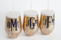 Personalized Glitter Acrylic Wine Glass.  Perfect for girls' weekend, wine tastings, wine tours, bridal showers, and bachelorette parties!
