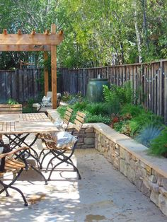 Small space, Big Impact - traditional - patio - san francisco - Wildflower Landscape Design The raised bed