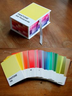 #charmcolorfully pantone postcards /Oh these are beautiful! I would probably get all stingy and only send out ones with hues I didn't like though. Haha.