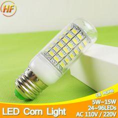 5 W ~ 15 W lampada led E27 E14 LED Lampe Ampoule de Maïs Lumière 7 W 9 W 12 W LED Lampara Bombilla LED Ampoule B22 127 v 240 v 220 V 110 V