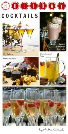 """The BEST Holiday Party Cocktails, I like the recipe for """"Apple Ginger Sparklers"""""""