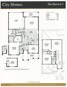 Windermere Terrace City Homes Bayview I Floor Plan in Windermere FL