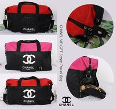 f5a5f6dc259c69 Chanel Red White CC Logo Travel Gym Duffle Weekend Bag Large Vip Gift