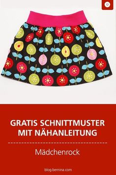 Sewing instructions girl skirt with summer flowers - Schnittmuster Baby- und Kinderkleidung - Clothes Dye, Sewing Clothes, Diy Clothes, Clothes Storage, Diy Gifts For Kids, Gifts For Women, Sewing Projects For Beginners, Summer Flowers, Free Sewing