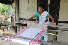 Weaving is one traditional craft that every Assamese woman takes pride in. The Assamese women produce silk and cotton clothes of exquisite designs in their looms Handloom Weaving, Non Profit, We The People, Something To Do, Charity, Opportunity, Water, Toilets, Inspiration