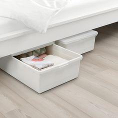 Under Bed Storage Bins, Lego Storage Boxes, Storage Boxes With Lids, Ikea Storage, Toy Storage, Bedroom Storage, Storage Spaces, Ideas Para Organizar, Ikea Bed