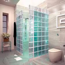 baños con bloques de vidrio y luces ile ilgili görsel sonucu