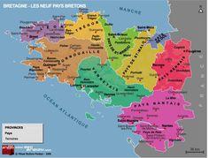 Carte de Bretagne : les 9 évêchés
