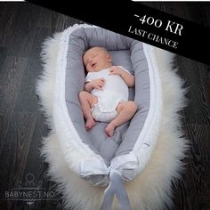 BABYNEST -400 KR  12 HOURS LEFT — Babynest Luxury Grey with lace is available for kr 799,- (normal price 1199,-) for 12 more hours (or until out of stock)  Give your baby a safe alternative with Vintagefleurs Babynest, which is  • Oeko-tex certified materials • Allergy friendly  • Ethical production process • Onesize 0-12 months • High quality materials and seams • Perfect fit for all strollers and cribs