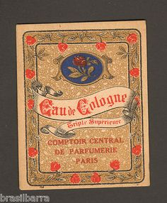 French perfumery label
