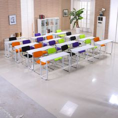 Most popular excellent quality folding conference table melamine board training table desk