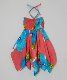 Take a look at this Pink Floral Handkerchief Dress on zulily today!