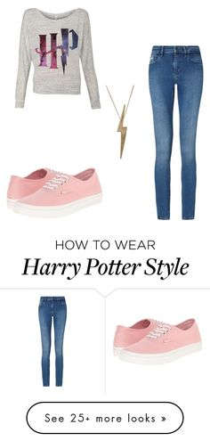 """""""Harry Potter ❤️"""" by sgflowersballet on Polyvore featuring Calvin Klein, Vans and Edge Only"""