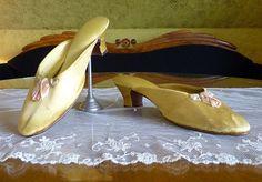 Boudoir Slipper, patent Oct. 23, 1917, Edwardian Shoes, antique shoes, antike Schuhe