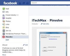 Pinvolve: Add Pin It Button To Facebook Pages #makeuseof #pinvolve #socialmedia
