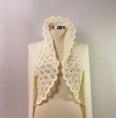 All Right Now / Bridal Shrug Bolero Knit Shrug Ivory by lilithist, $285.00