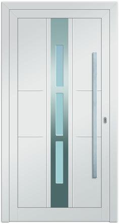 Sternstunden Eingangstüre NESO 4 - Aluminiumtüre außen in weiß. Besuchen Sie unseren Schauraum in Gramastetten - dort haben wir einige unserer Haustürmodelle ausgestellt.   #Fensterschmidinger #doors #türen #alu #gramastetten #oberösterreich