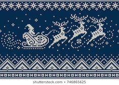 Cross Stitch Borders, Cross Stitch Charts, Cross Stitch Embroidery, Cross Stitch Patterns, Cross Stitch Christmas Stockings, Christmas Cross, Fair Isle Knitting, Knitting Yarn, Knitting Charts