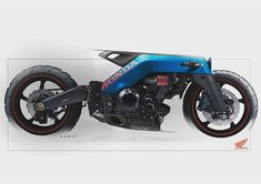 Ford GT Motorcycle Concept in Gulf Oil livery. Sketch by Sushanth Sumanth ( Ford GT Motorcycle Concept in Gulf Oil livery. Sketch by Sushanth Sumanth ( exterior designer at TATA Motors . Futuristic Motorcycle, Bike Art, Motorcycle Bike, Motorcycle Exhaust, Concept Motorcycles, Custom Motorcycles, Custom Bikes, Ford Gt, Eletric Bike