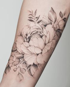 Tattos with Meaning – Meaningful tattoos Pretty Tattoos, Love Tattoos, Beautiful Tattoos, Tattoos For Women, Forearm Flower Tattoo, Forearm Tattoos, Body Art Tattoos, Dahlia Tattoo, Peony Flower Tattoos