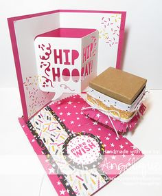 http://stempelkeuken.blogspot.com It's My Party, It's My Party Bundle, Party Punch Pack, Party Wishes, It's My Party DSP, Party Pop-Up Thinlits dies, Melon Mambo, Crushed Curry, Fringe Scissors, Baker's Twine