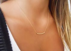 A beautiful, delicate everyday gold filled necklace. Perfect for layering with more necklaces. ◂▸◂▸◂▸◂▸◂▸◂▸◂▸◂▸◂▸◂▸◂▸◂▸◂▸◂▸◂▸◂▸◂▸◂▸◂▸◂▸◂▸ ⊹ D e t a i l s 14K Gold filled tube, 30mm long 14K Gold filled chain. All metal components are gold filled