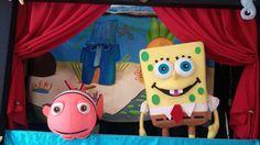 Teatro de Fantoches Fundo do Mar com Bob Esponja Nemo e Ariel. Uma história divertida com muita música, 7 lindos bonecos de fantoches. Opcional Personagem Bob Esponja. Ligue 11 99807 0605 fale com o Tio Pan