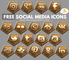 Free Social Media Icons 2018 Bronze Free Photoshop, Photoshop Tutorial, Post Date, Social Media Icons, Design Projects, About Me Blog, Bronze, Metal, Gold