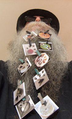 BEARD GALLERY - Opere di Alevegan Sarti installate sulla mia barba (Galleria Pensile)