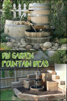 Add a water feature to your outdoor space! Be inspired to build your own by heading over to our site ;)