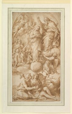 Alessandro Turchi - Allegory of the Immaculate Conception with the Fall of Man.