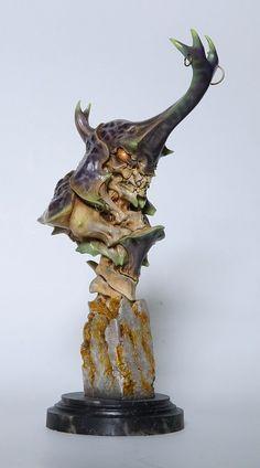 ArtStation - Sazen Lee unicorn beetleman bust paint up, zi chen gong Creature 3d, Creature Feature, Creature Concept, Creature Design, Character Art, Character Design, Cool Monsters, Demon Art, Alien Creatures
