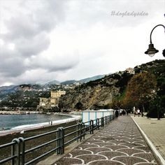 🎶There is no turning back from this unending path of mine. Serpentine and back it stands before my eyes🎶 -H. 🔹🔹🔹🔹🔹🔹 A cloudy autumn day at Maiori Beach on the Amalfi Coast in Italy for today's theme at 📷 📷 📷 📷 📷 Las Vegas Trip, Travelogue, Amalfi Coast, European Travel, My Eyes, Travel Photos, Turning, Paths, Dolores Park