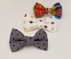 I love bow ties on little boys. The nice thing about bow ties is that they are really easy to make. You pretty much just need to kn...