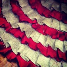ruffle Christmas tree burlap skirt!