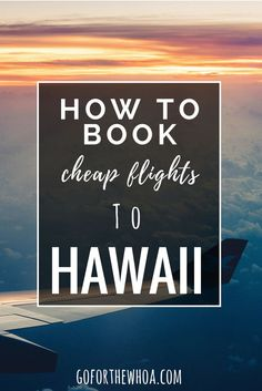 How to book cheap flights to Hawaii. Part of the thrill of going on vacation is getting a sweet deal on it, right? I know I can't be the only one that feels this way! If you are wanting to get the best deal for travel, the best way is to be booking your trip yourself, instead of going to a travel …