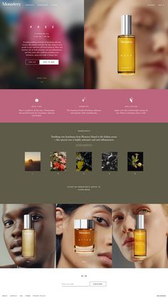 Website Design Layout, Layout Design, Melting Face, Beautiful Website Design, Product Ads, Beauty Logo, Website Design Inspiration, Cleansing Oil, Landing